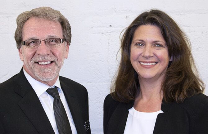 Photo of Michael Wirh-Davis, DPA Pesident & CEO with Wendy Mahling, Chair of the Board