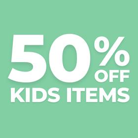 50% Off Kid Items Sale