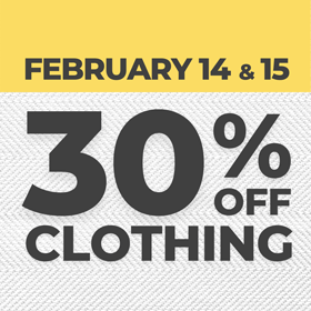 30% Off Clothing Sale